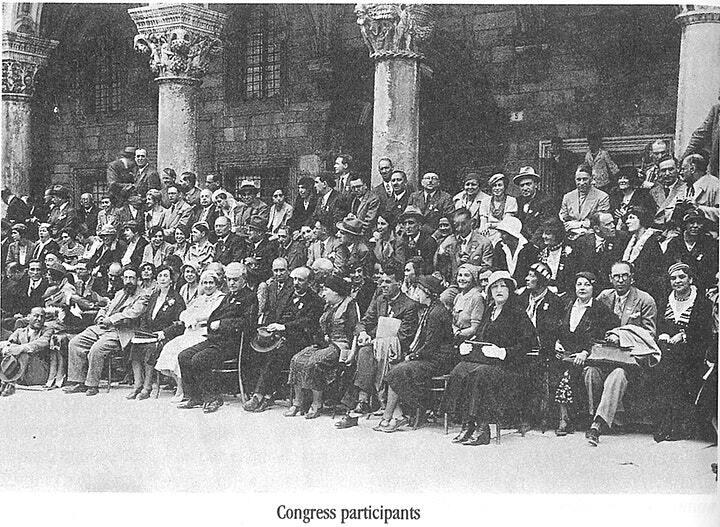 Photograph of all the PEN members and associates who attended the 59th PEN International Congress in Hvar/Dubrovnik, 19-24 April 1993. This photograph was taken by Damil Kalogjera. © Croatian PEN Centre .